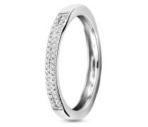 Ring aus 375 Weißgold mit 0.11 Karat Diamanten-52