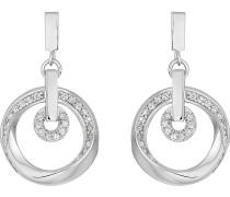 JETTE Silver Damen-Ohrstecker 925er Silber 58 Zirkonia