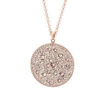 Halskette rosévergoldet mit Swarovski-Steinen