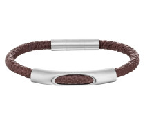 Armband Jersey aus Leder & Edelstahl