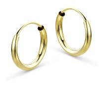 Creolen aus 333 Gold | Durchmesser 13 mm | Stärke 2 mm