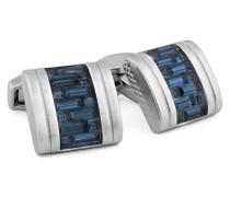 Manschettenknöpfe Interlock D-Shape Belgravia aus Kupfer mit Swarovski-Steinen