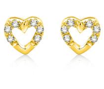 Ohrstecker aus 375 Gold mit 0.06 Karat Diamanten