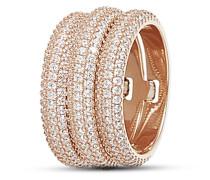 Ring Chain aus rosévergoldetem 925 Sterling Silber mit Zirkonia