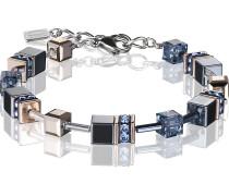 Coeur de Lion Damen-Armband Edelstahl Hämatit
