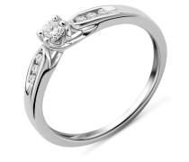 Ring aus 375 Weißgold mit 0.20 Karat Diamanten-05