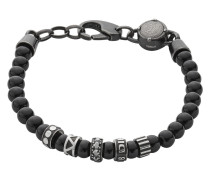 Armband ETNIK aus Edelstahl mit Achaten