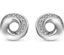 JETTE Silver Damen-Ohrstecker 925er Silber 20 Zirkonia