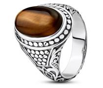 Ring Rebel at Heart aus 925 Sterling Silber mit Tigerauge-60
