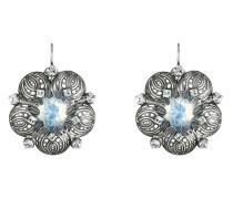 Ohrhänger Water Blossom aus Metall mit Glassteinen