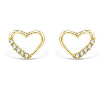Ohrstecker aus 375 Gold mit 0.07 Karat Diamanten