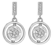 JETTE Silver Damen-Ohrstecker 925er Silber 40 Zirkonia