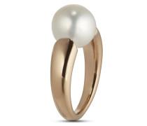 Ring aus rosévergoldetem 925 Sterling Silber mit Süßwasser-Zuchtperle-52