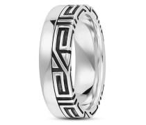 Ring Black Meander aus 925 Sterling Silber-60