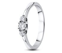 Ring aus 585 Weißgold mit 0.25 Karat Diamanten-52