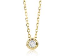Halskette aus 585 Gold und 0.05 Diamant