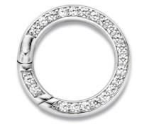 Clip-Ring für Halsketten aus 925 Sterling Silber mit Zirkonia