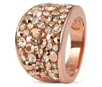 Ring rosévergoldet mit Swarovski-Steinen-52