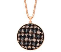 Halskette Herzen rosévergoldet mit Swarovski-Steinen