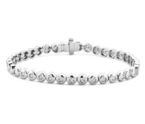 Armband aus 375 Weißgold mit 1 Karat Diamanten