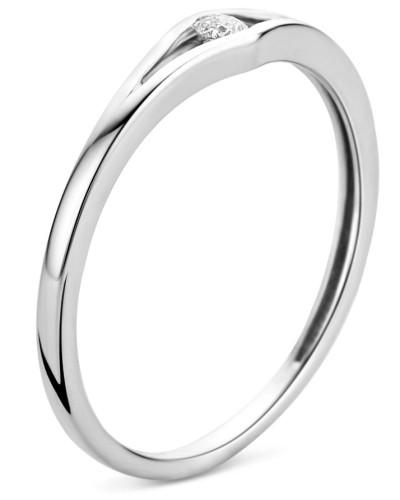 Ring aus 375 Weißgold mit 0.05 Karat Diamant-50