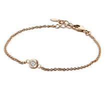 Armband aus rosévergoldetem 925 Sterling Silber mit Zirkonia