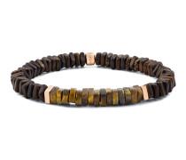 Armband Beads aus Holz mit Tigeraugen
