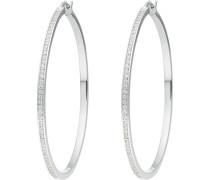 JETTE Silver Damen-Creole 925er Silber 116 Zirkonia