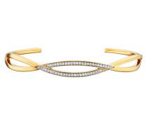 Armreif Fluid Curves aus vergoldetem 925 Sterling Silber mit Topasen