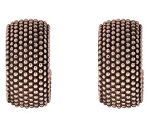 Creolen Pixel aus rosévergoldetem 925 Sterling Silber
