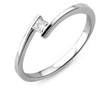 Ring aus 750 Weißgold mit 0.10 Karat Diamant-54