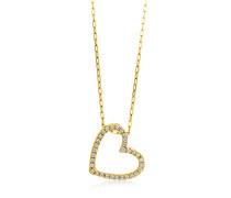 Halskette aus 750 Gold mit 0.17 Karat Diamanten