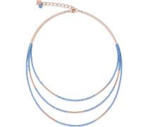 Halskette aus Edelstahl mit Glassteinen