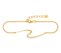 Armband Fluid Curves aus vergoldetem 925 Sterling Silber mit Topasen