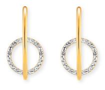 Creolen Solar Orbit aus vergoldetem 925 Sterling Silber mit Topasen