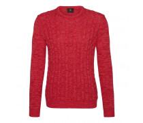 Strick-Pullover HOWARD für Herren - Wild Melon Mélange Pullover