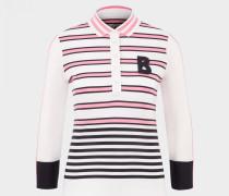 Polo-Shirt Ilana für Damen - Off-White/Rosa/Schwarz Polo-Shirt