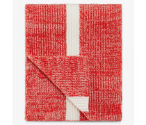 Strickschal Revel für Man - Rot/Weiß