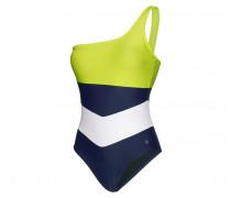 One-Shoulder-Badeanzug SYLVIE für Damen - Lime/Ink Badeanzug