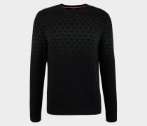 Pullover Alois für Herren - Schwarz/Dunkelgrün Pullover