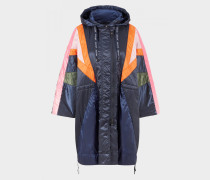 Long-Jacket Laureen für Damen - Dunkelblau/Orange/Rosa