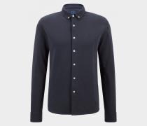 Piqué-Hemd Franz für Herren - Navy-Blau Piqué-Hemd