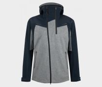 Loden-Mix-Jacke Matt für Herren - Navy-Blau/Grau Jacke