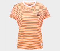 T-Shirt Olive für Damen - Orange/Weiß T-Shirt