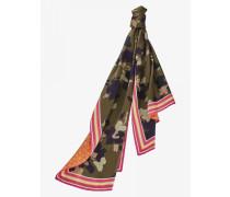 Seidenschal Sia für Damen - Khaki Camouflage