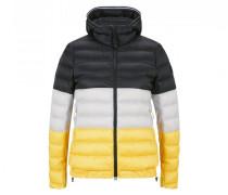 Leichtdaunenjacke Anka - Schwarz/Weiß/Gelb