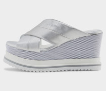 Wedge-Sandale Cannes für Damen - Silber Wedge-Sandale