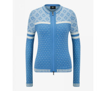 Strickjacke Tiana für Damen - Light blue/white Strickjacke