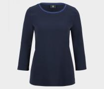 Schlupfbluse Brianna für Damen - Schwarz-Blau