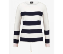 Pullover Eve für Damen - Off-White/Navy gestreift Pullover
